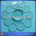 flat round quartz sight glass