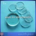 transparent circle  pyrex glass disc