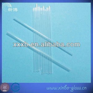 small diameter transparent  quartz glass tube
