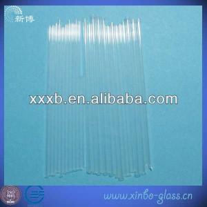 small diameter clear quartz glass pipe
