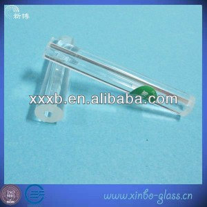 small diameter clear quartz glass tube