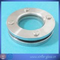 clear ss304 flanged round glass disc
