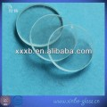 clear quartz tempered round glass disc