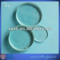 transparent circle quartz tempered glass disc